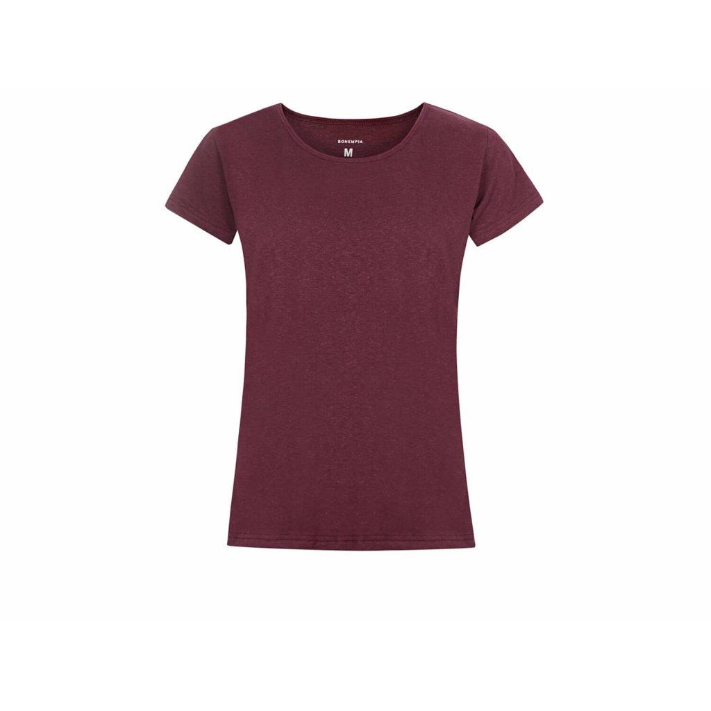 Women's Hemp T-Shirt BINKA Burgundy