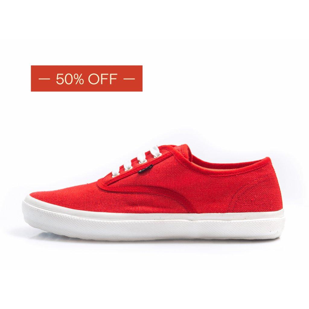 Hemp sneakers KRASEN 2.0 Plimsole Red-White