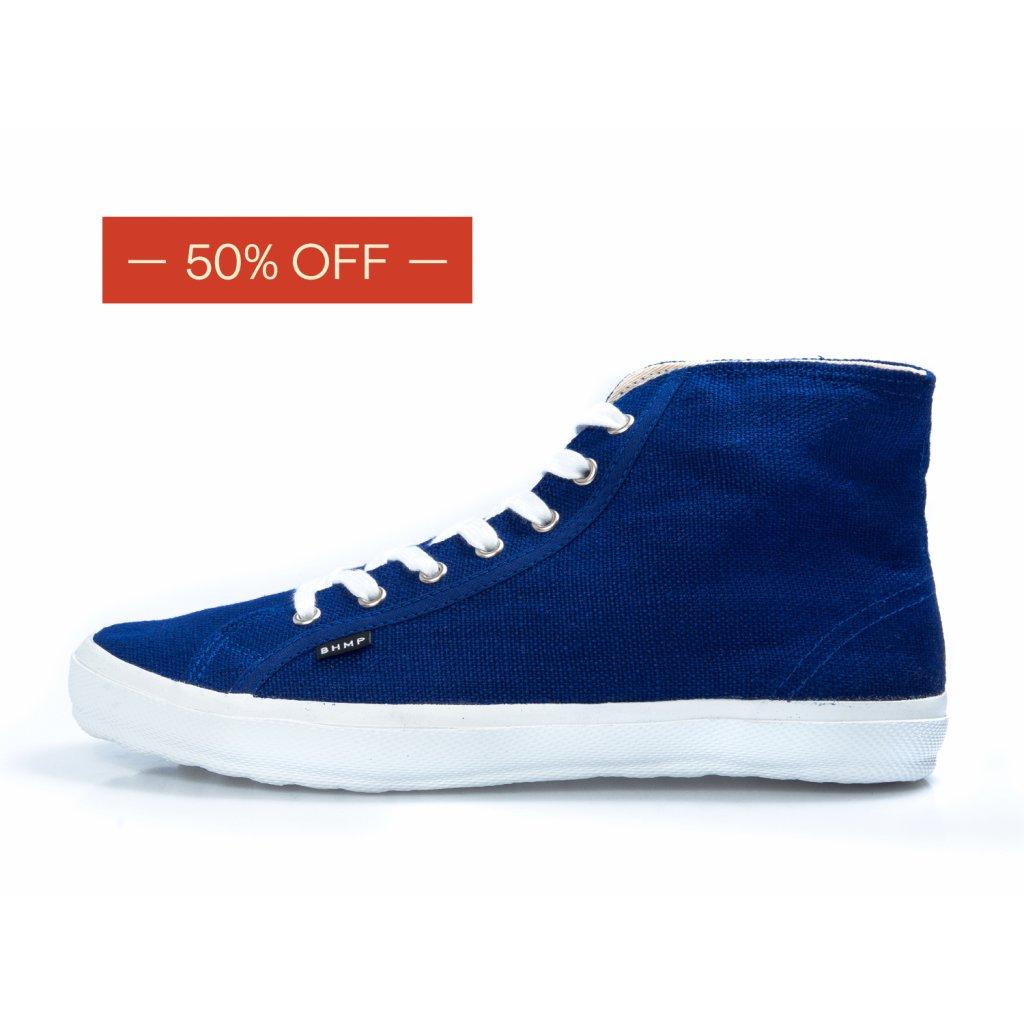Hemp sneakers ORASA 2.0 High Top Navy-White