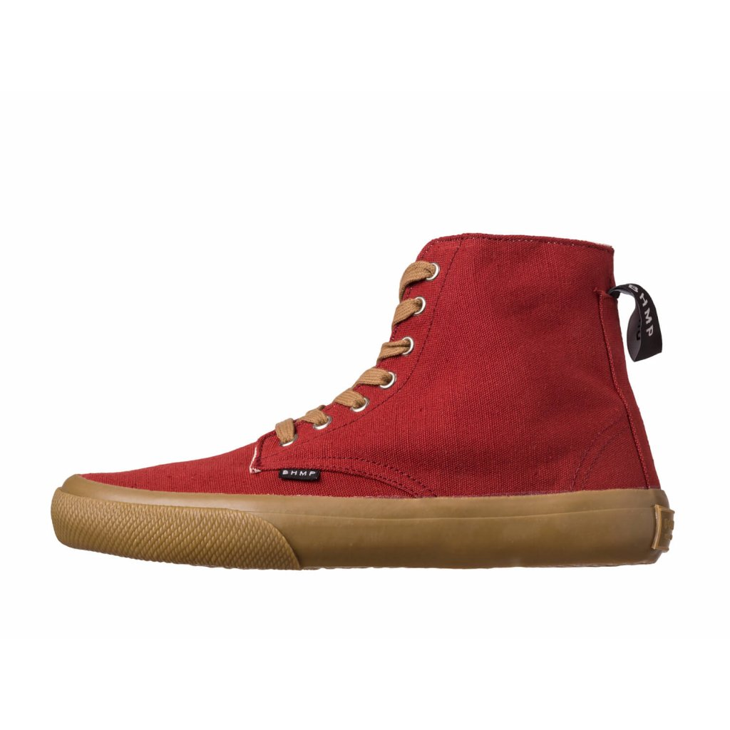 Hemp sneakers MILEK 2.0 Urban Boot Burgundy-Gum