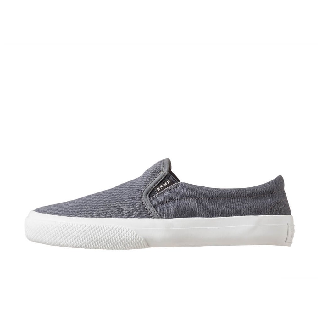 Hemp sneakers VITAN 2.0 Slip-on Dark Grey-White