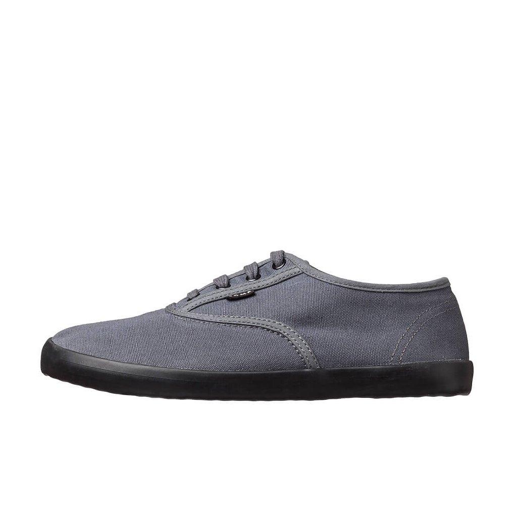 Hemp barefoot sneakers KOLDA Plimsole Dark Grey-Black