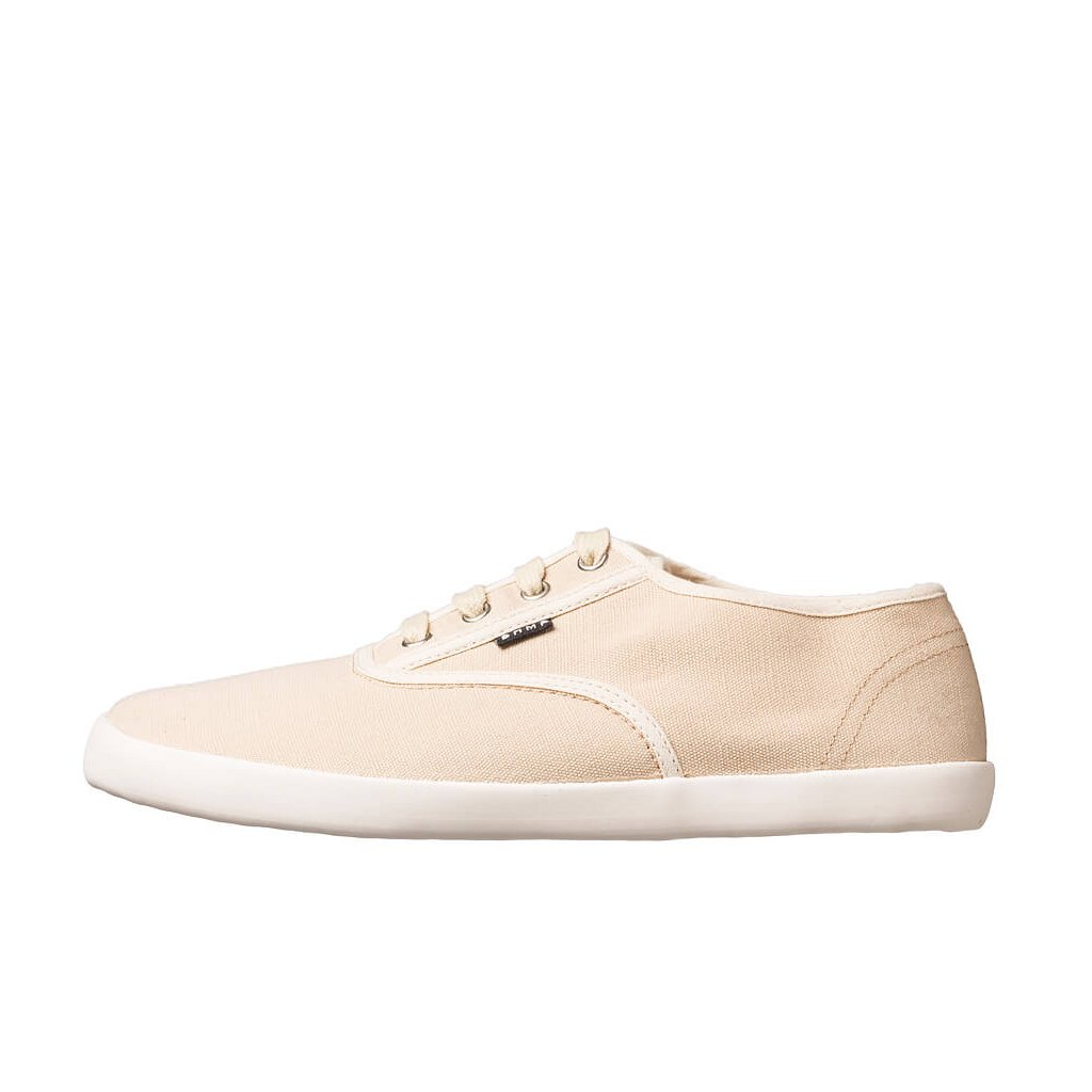 Hemp barefoot sneakers KOLDA Plimsole Tan-Off White