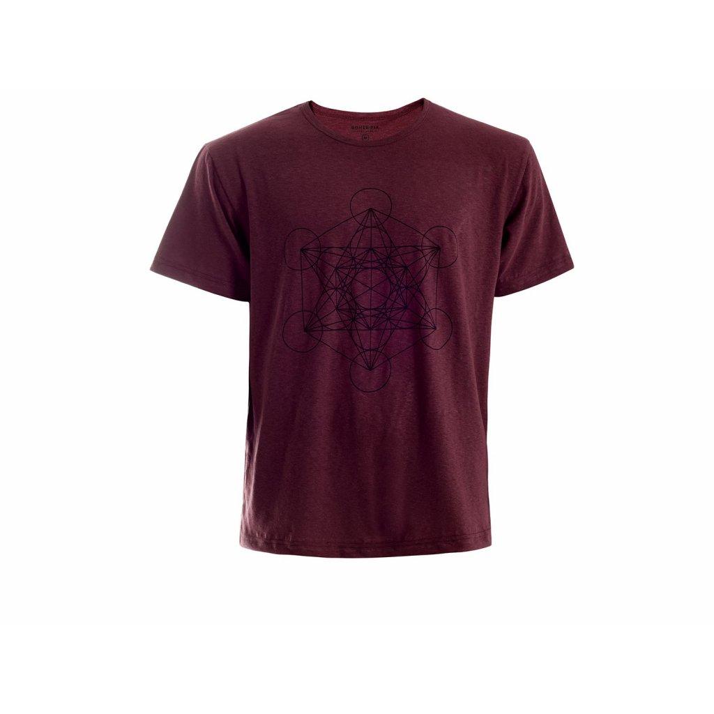 Men's Hemp T-shirt HIRZO Burgundy Metatron