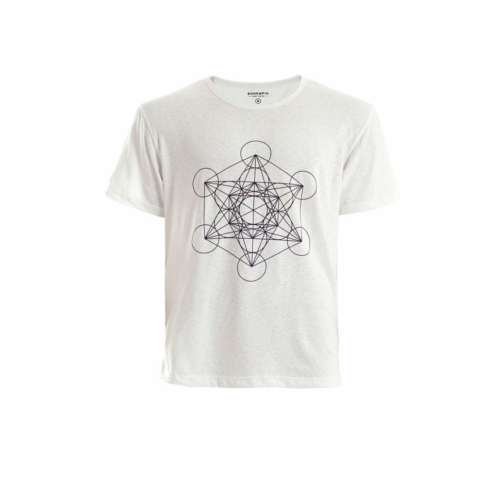 Men's Hemp T-Shirt HIRZO White Metatron