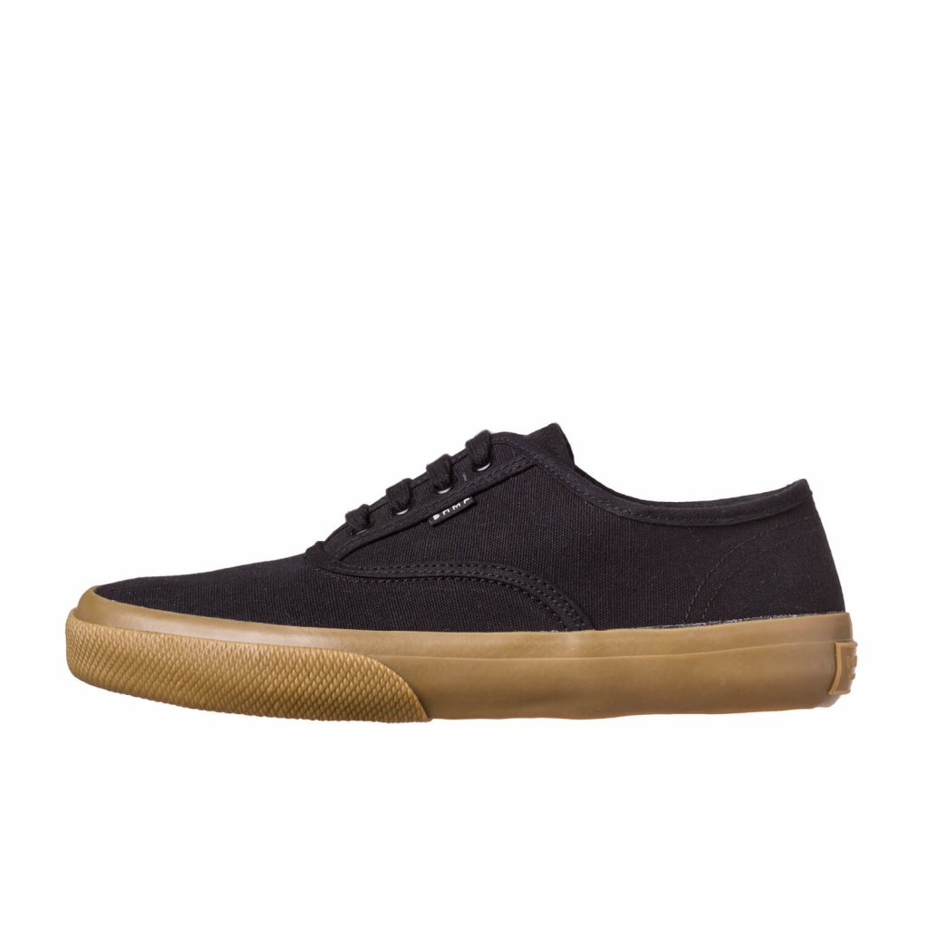 Hemp Sneakers KRASEN 2.0 Plimsole Black-Gum