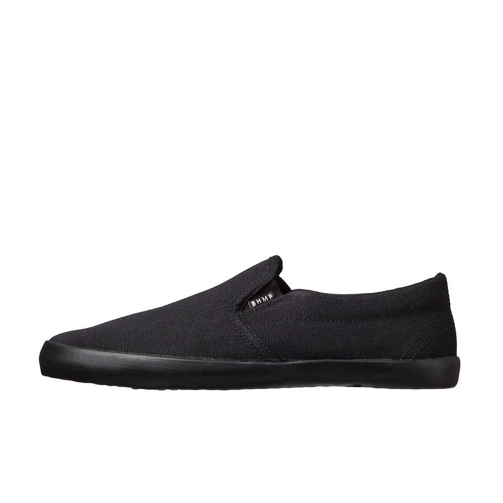 Hemp barefoot sneakers VIKLA Slip-on Black-Black
