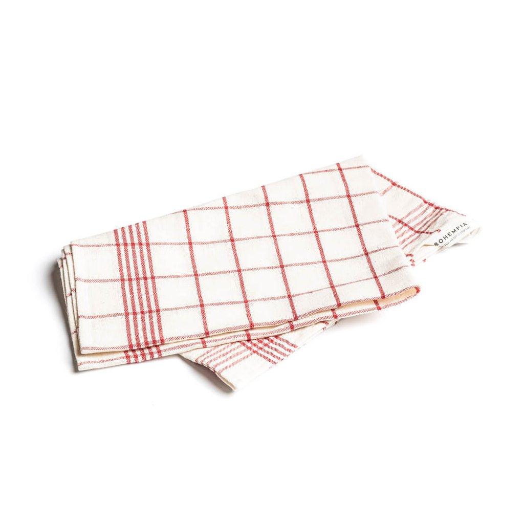 Hemp Kitchen Towel - red