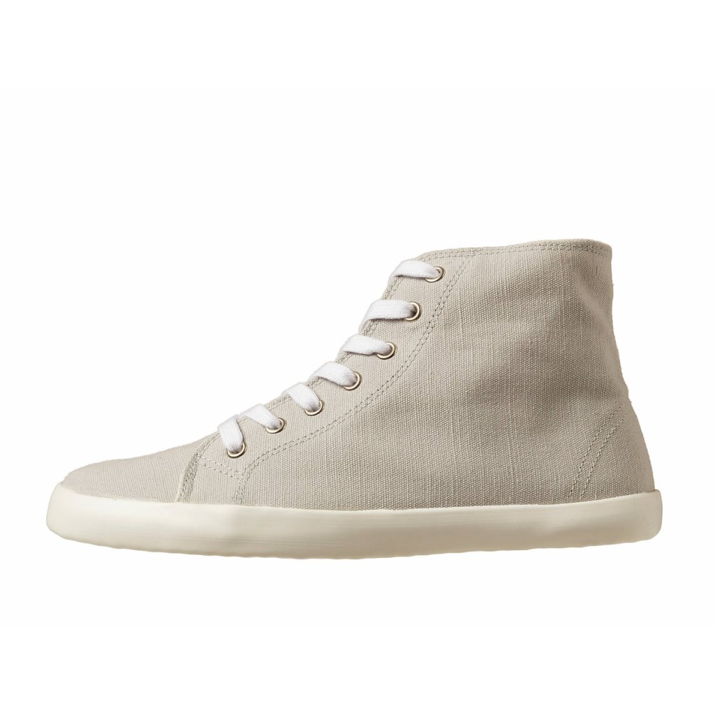 Hemp barefoot sneakers ORIK High Top Grey-White