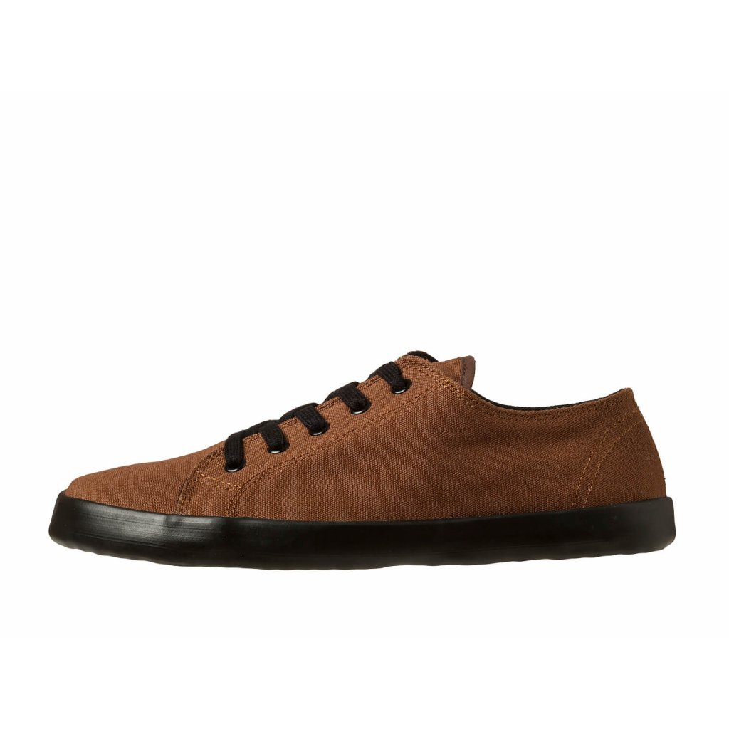 Hemp barefoot sneakers HOSKA Court Low Brown-Black