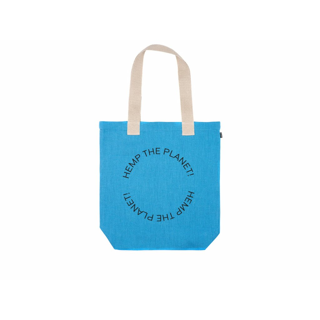 "Hemp tote bag BORA Azure ""Hemp the planet"""