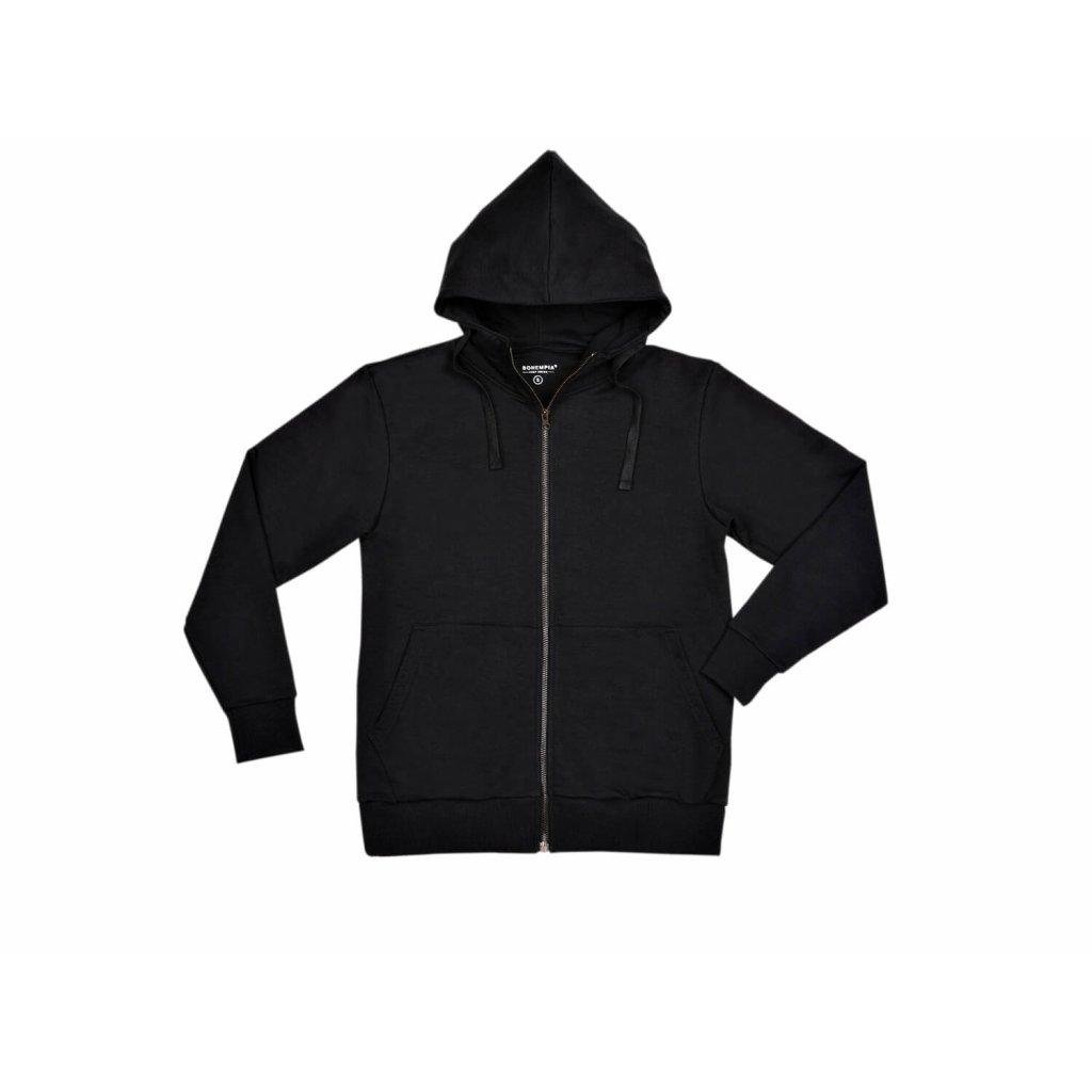 Men's hemp sweatshirt BUNA Black