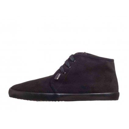 Winter vegan barefoot shoes ZAVID Chukka Black-Black