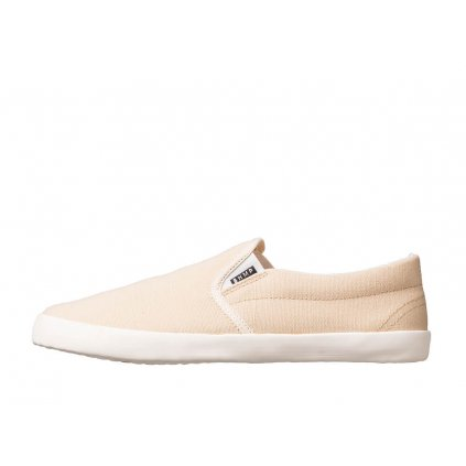 Hemp barefoot sneakers VIKLA Slip-on Tan-Off White