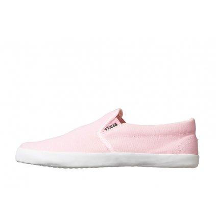 Hemp barefoot sneakers VIKLA Slip-on Pink-White