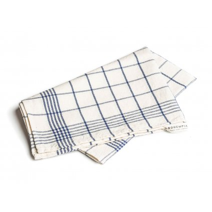 Hemp Kitchen Towel - blue