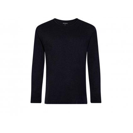 Men's Hemp Long Sleeve T-Shirt HUNEK Black