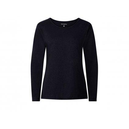 Women's Hemp Long Sleeve T-Shirt BELKA Black