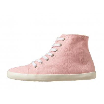 Hemp barefoot sneakers ORIK High Top Pink-White