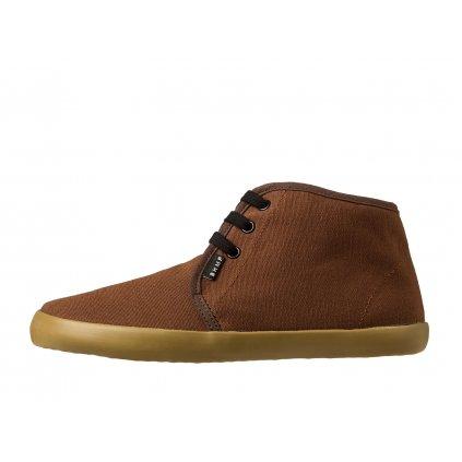 Hemp barefoot sneakers ZELEK Chukka Brown-Gum
