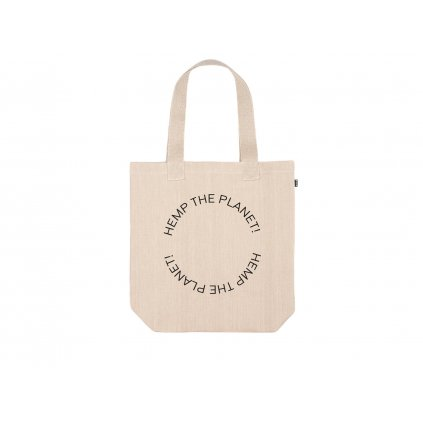 "Hemp tote bag BORA Natural ""Hemp the planet"""