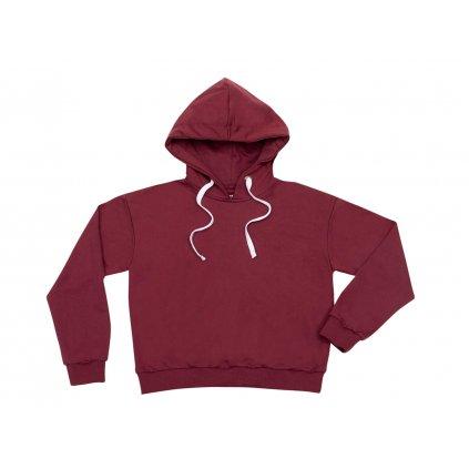 Women's hemp hoodie LEVA Burgundy