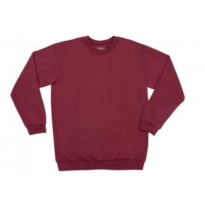 Unisex hemp sweatshirt PERUT Burgundy