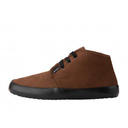 Winter vegan barefoot shoes ZAVID 2.0 Chukka Brown-Black PRESALE