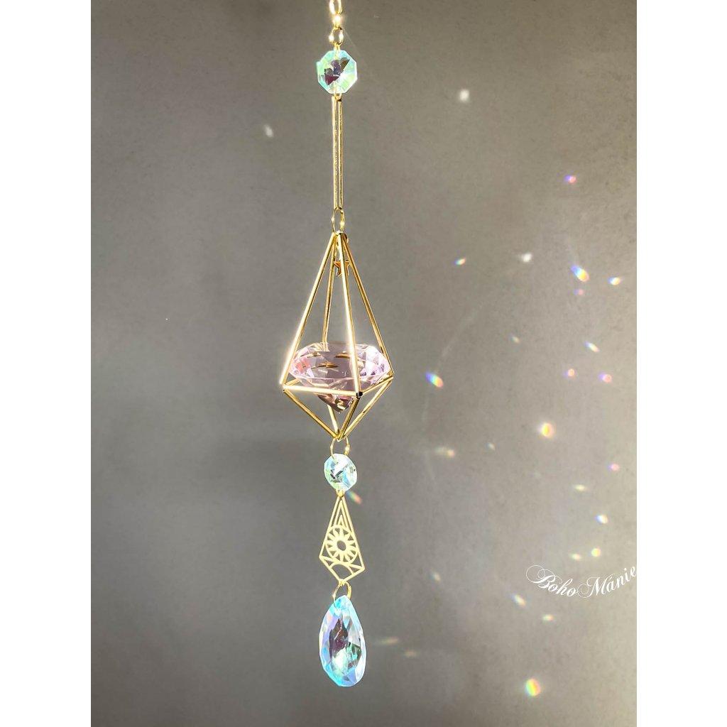 krystalový zářič selenit koule klícka SELENITOVÉ NEBE selenit měsíc