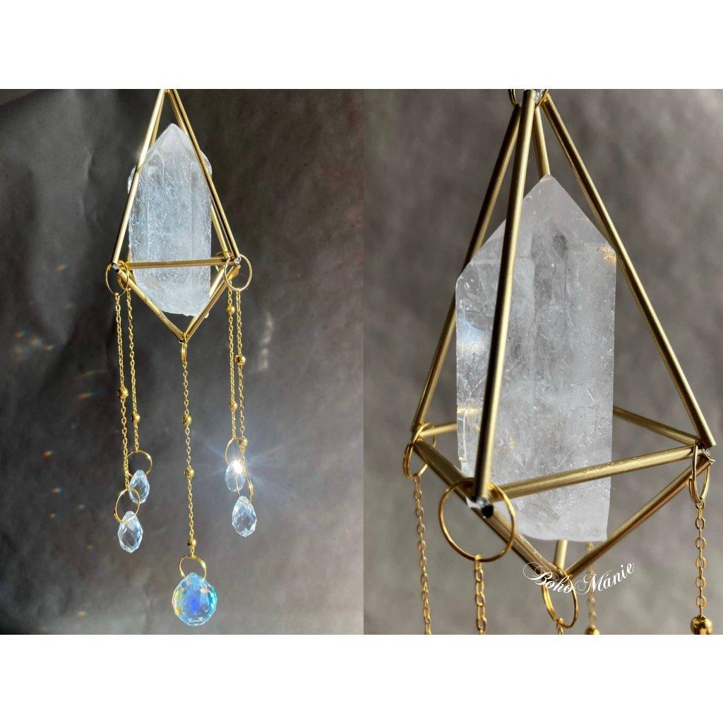 krystalový zářič - klícka - SVĚTELNÝ KŘIŠŤÁL