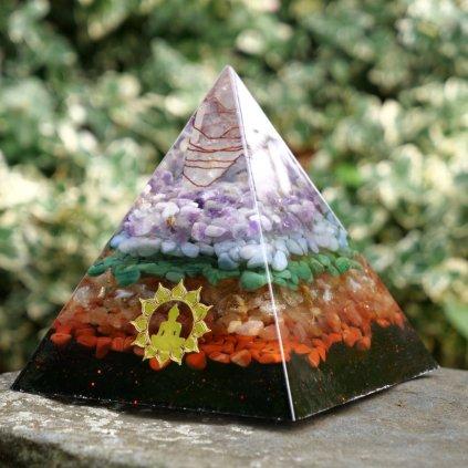 orgonit, čakrová pyramida, resin art, epoxy resin