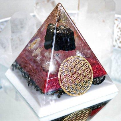 orgonit,pyramida,turmalím,křišťál,bezpečí domova,jinjang