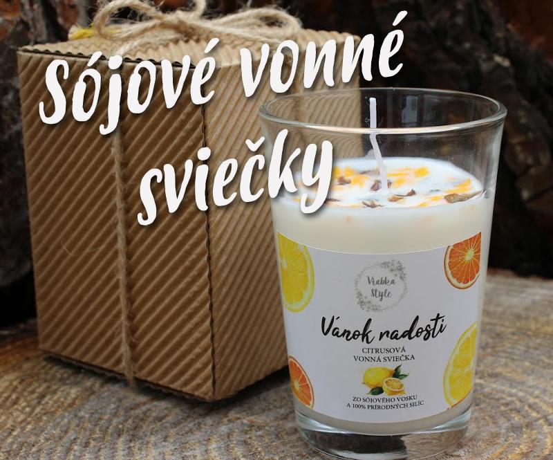 Sójové vonné sviečky - VrabkaStyle