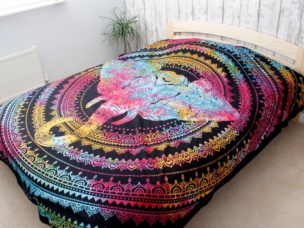 bavlnene prikryvky na postel hlava slona dvojlozkova3
