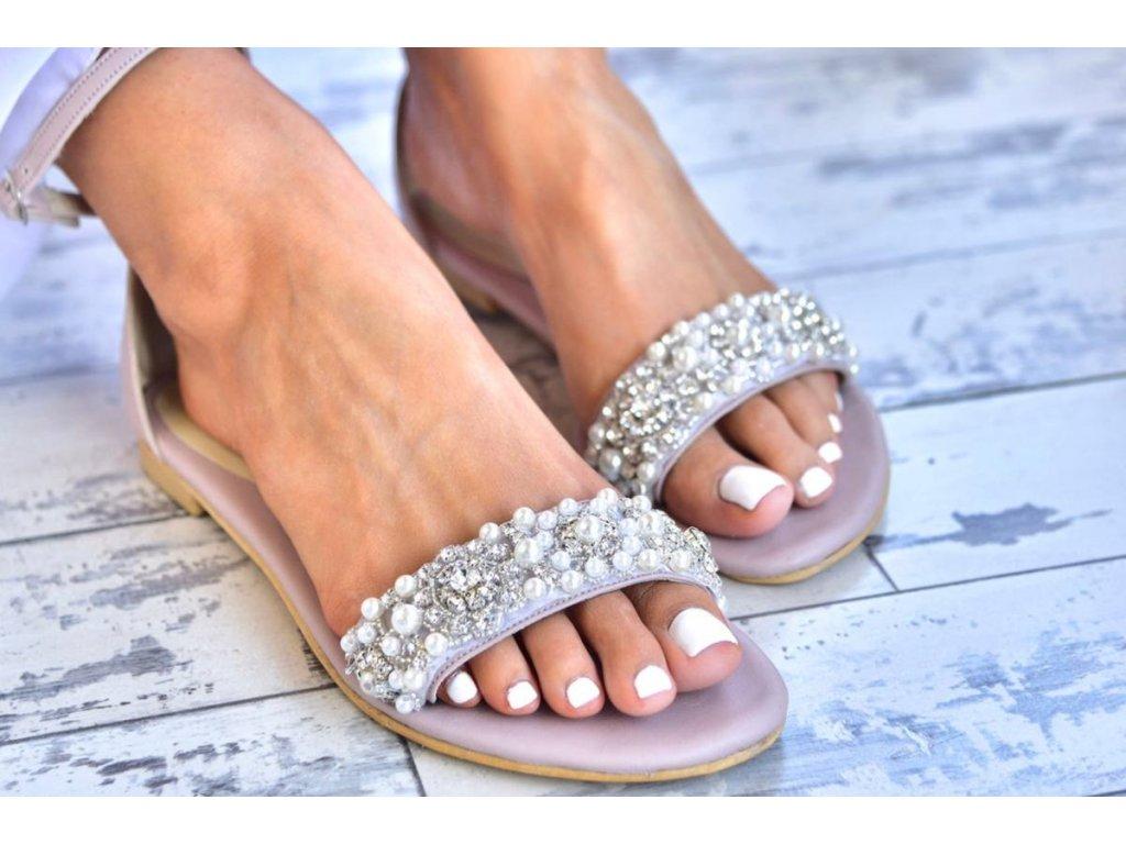 svadobne sandalky kalliroi