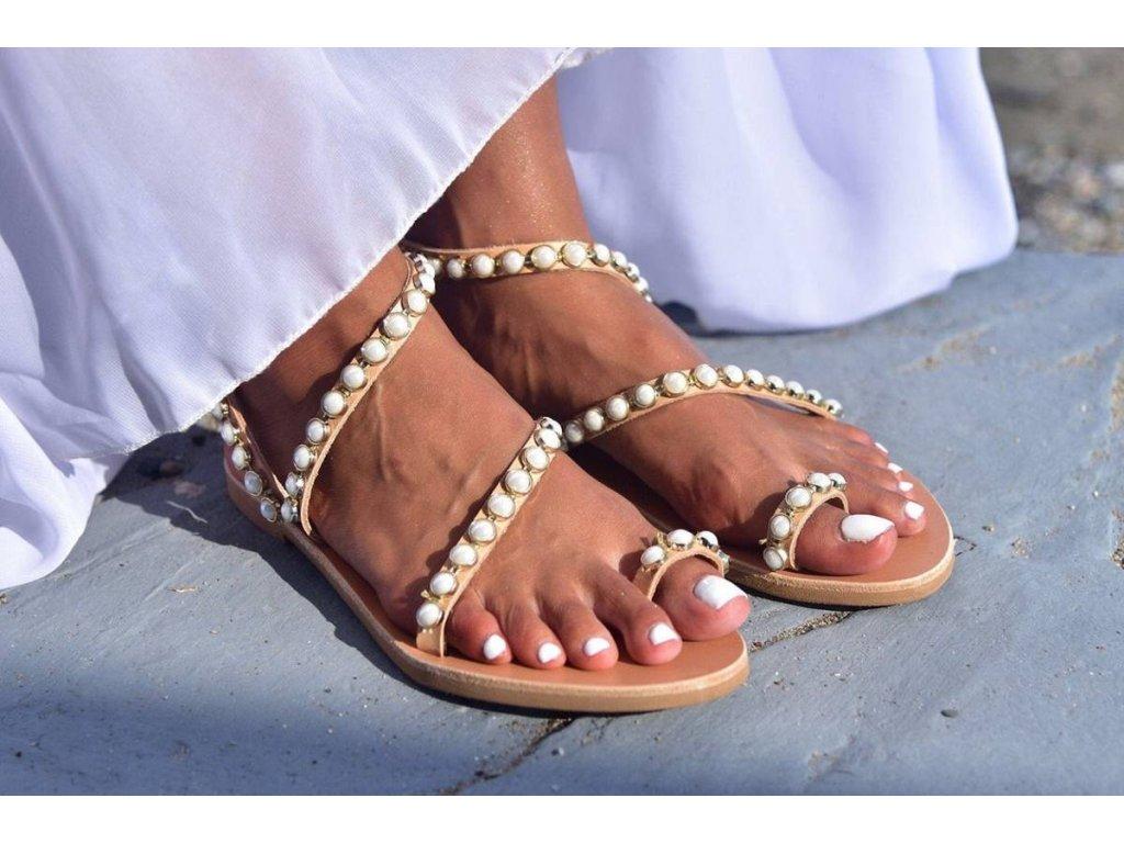 svadobne sandalky ionides