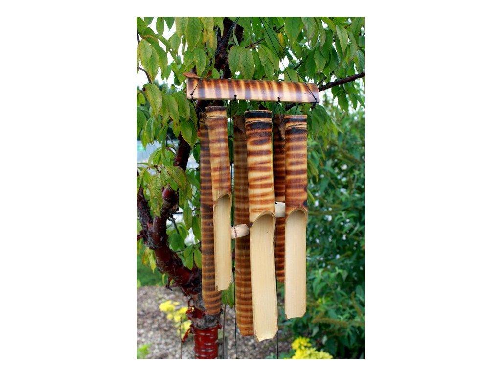 drevena zvonkohra bambus 6 velkych tub