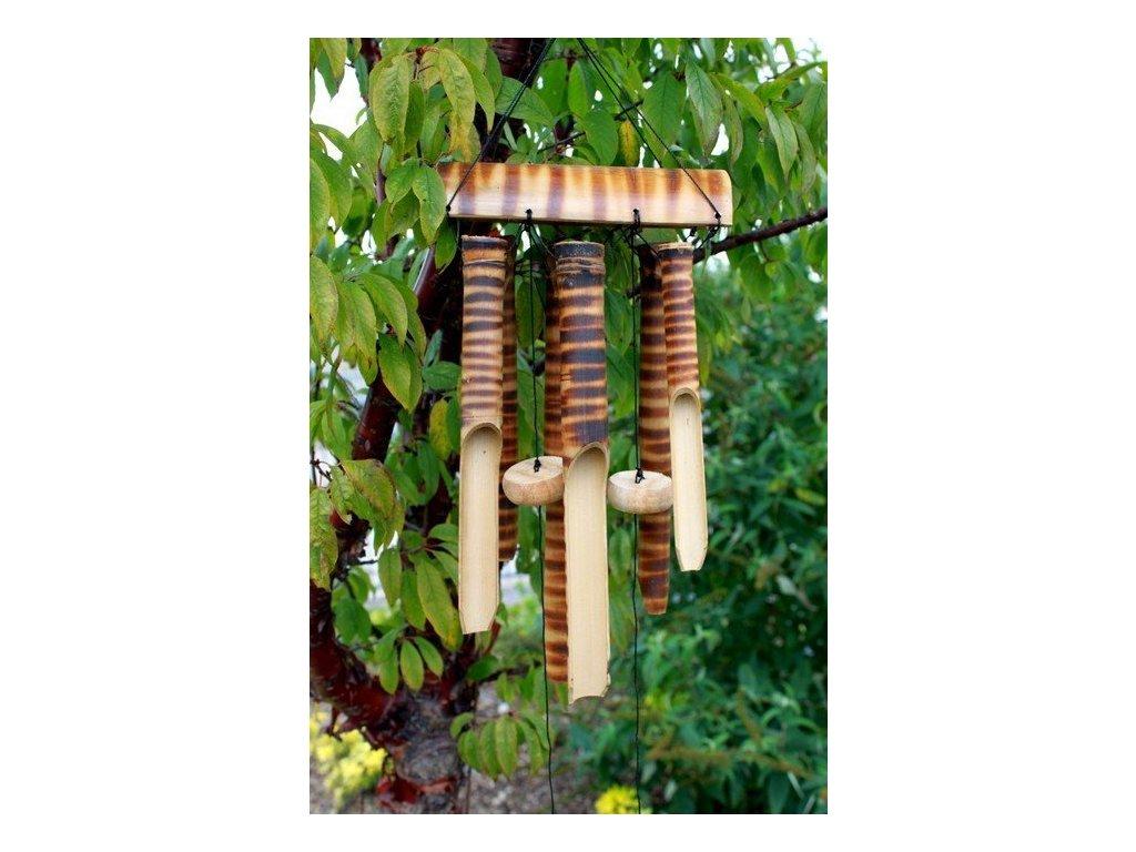 drevena zvonkohra bambus 6 strednych tub