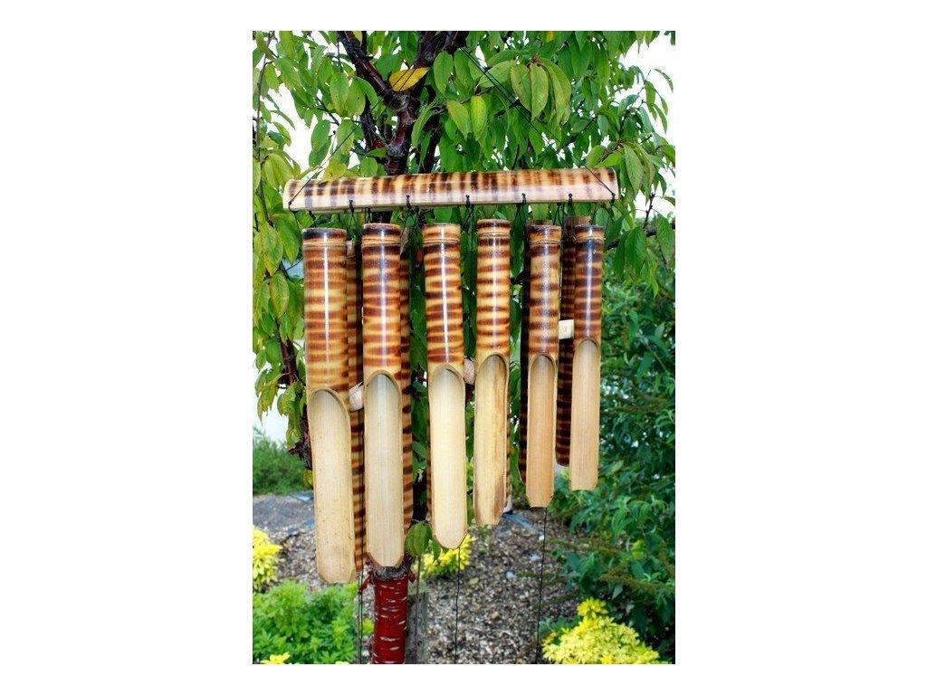 drevena zvonkohra bambus 12 velkych tub