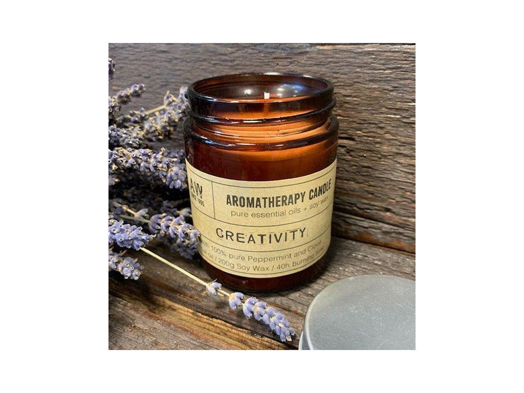 aromaterapeuticka sojova sviecka kreativita