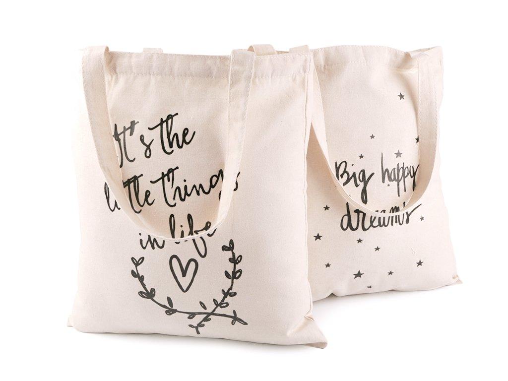 textilna taska bavlnena srdce hviezdy
