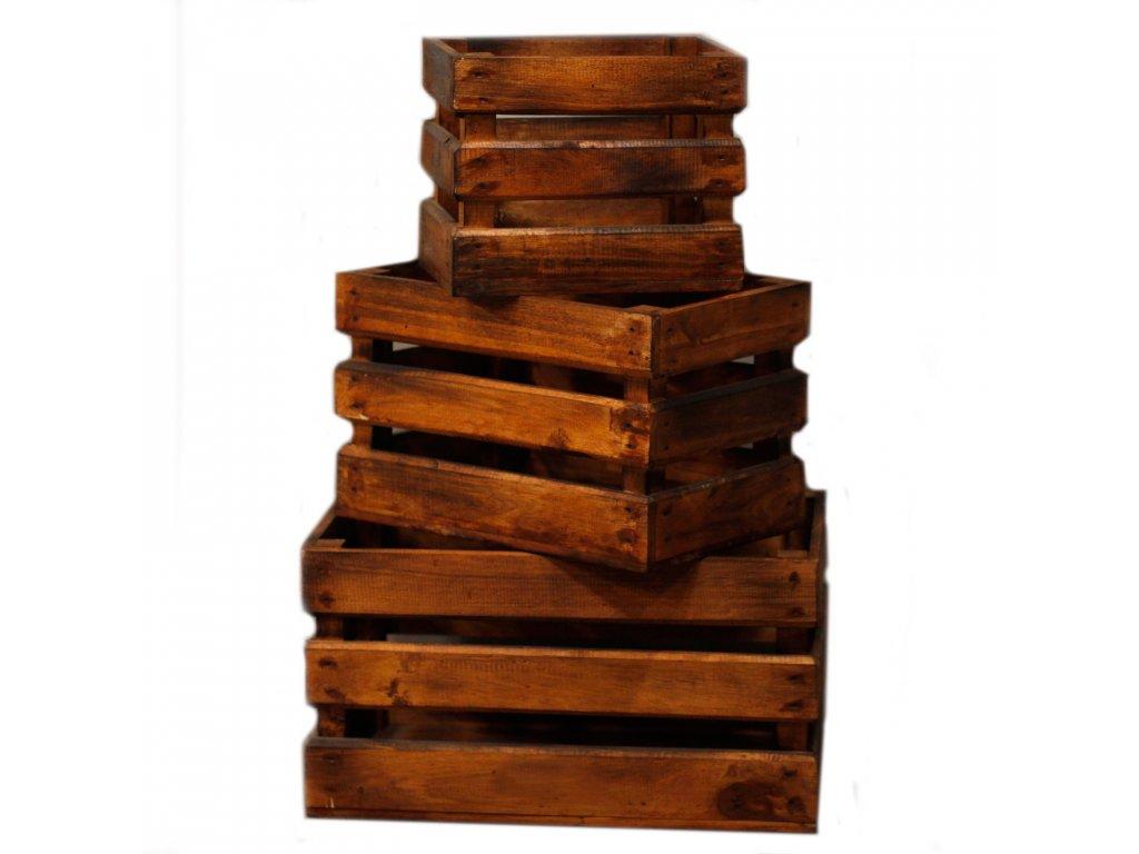 drevene bednicky dekoracne hneda (2)