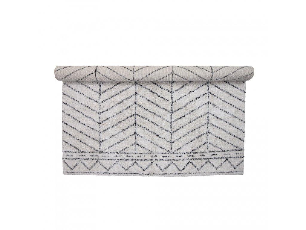 bavlneny koberec tufting white rug (5)