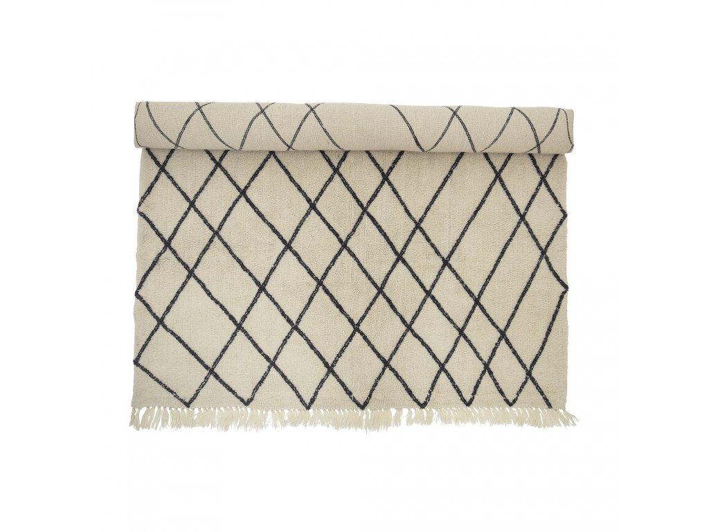 bavlneny koberec natural rug bloomingville (1)