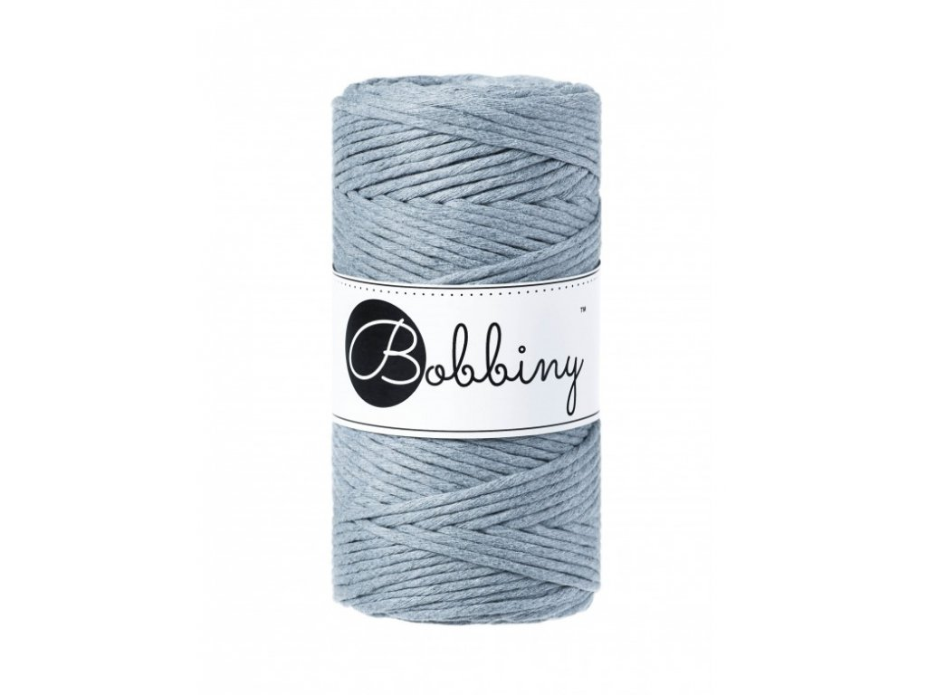 macrame spagat bobbiny raw denim 100m 3mm