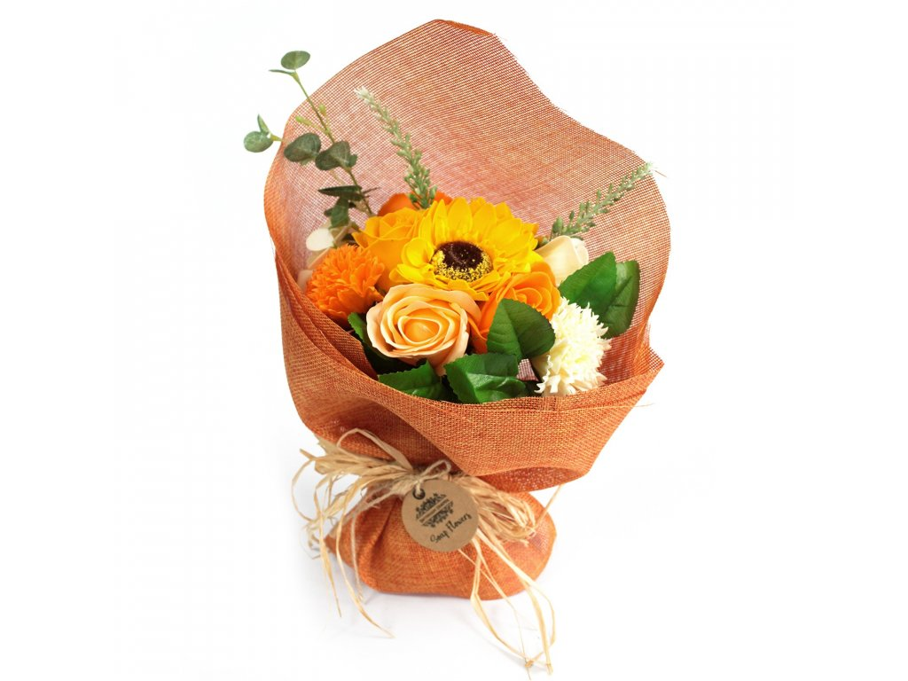 mydlova kytica stojaca oranzova