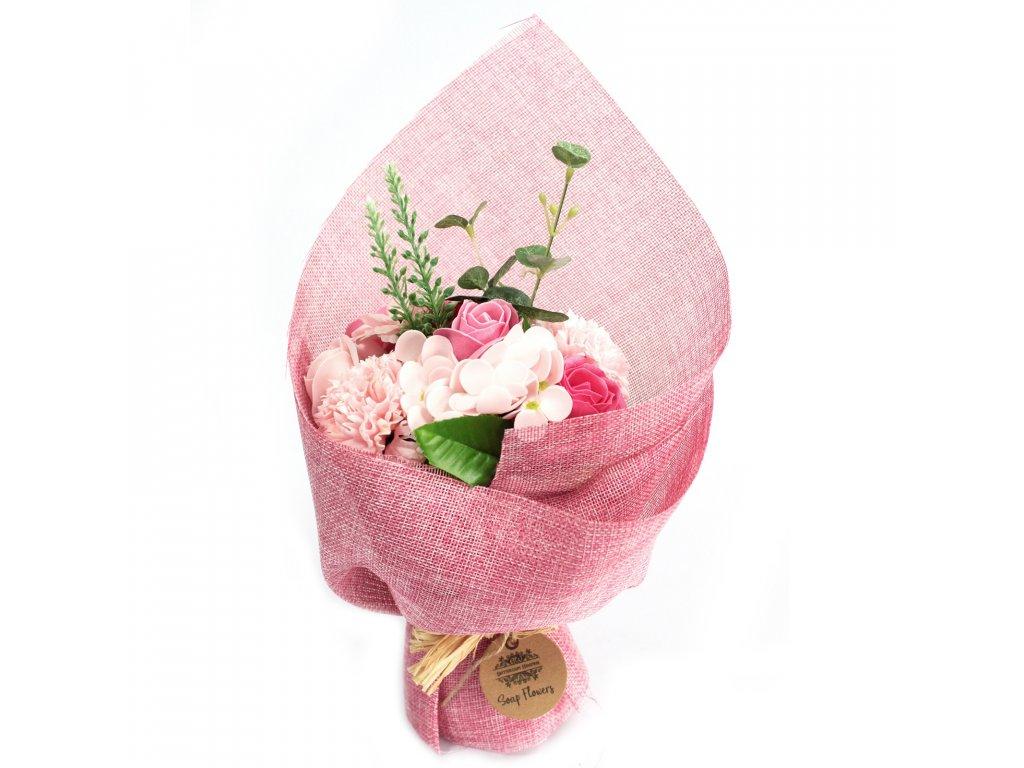 mydlova kytica stojaca ruzova
