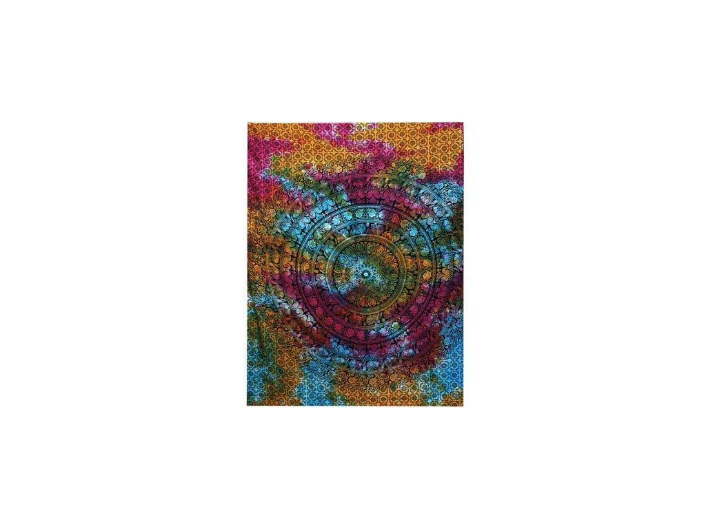 bavlnena prikryvka na postel slon mandala jednolozkova