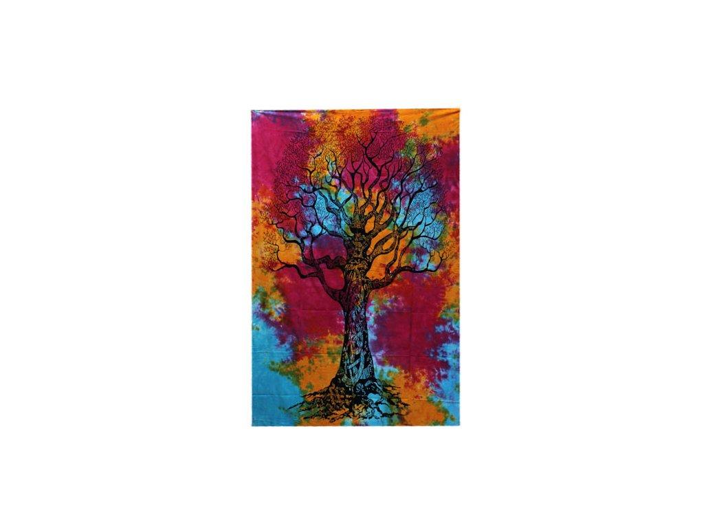 bavlnena prikryvka na postel zimny strom jednolozkova