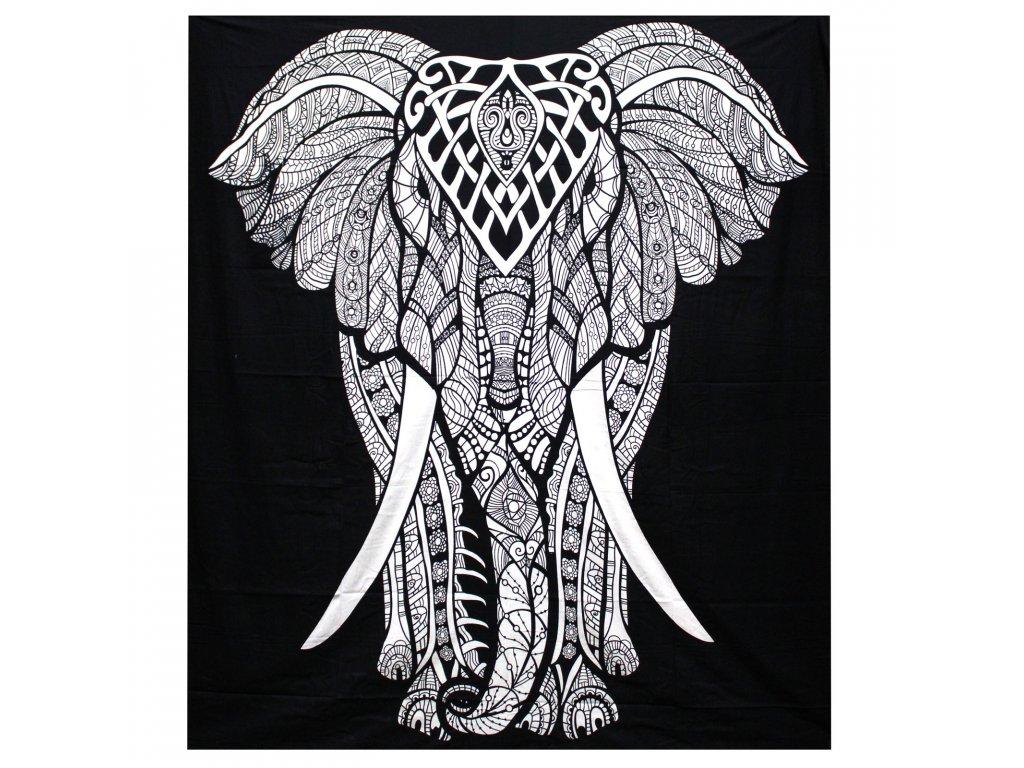 bavlnena prikryvka na postel slon dvojlozkova